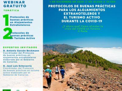 Protocolos de buenas prácticas para los Alojamientos Extrahoteleros y el Turismo Activo durante la COVID-19 (Grabación)