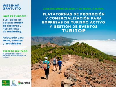 Plataformas de promoción y comercialización para empresas de turismo activo y gestión de eventos: TuriTop